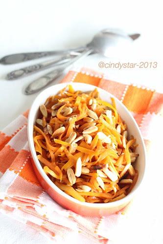 carote e mandorle in agrodolce