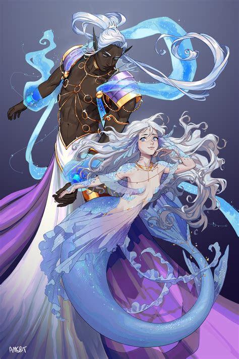 mermaid mermaids en  anime art anime mermaid
