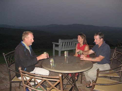 Hilltop deck with Ian and Kathy