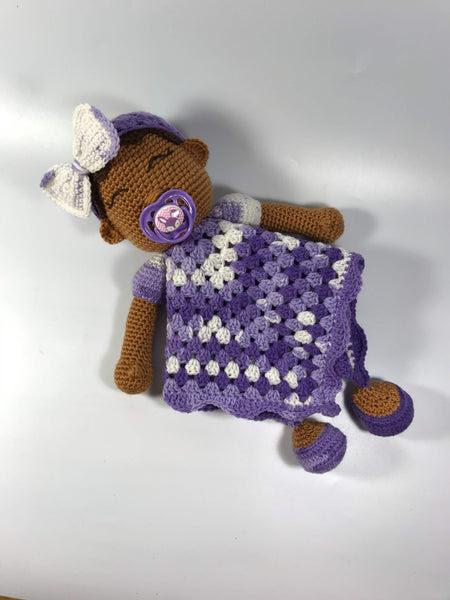 """Crochet Kit - """"Baby Hugs"""" Crochet Lovey Pattern Choose Your Yarn Colors"""