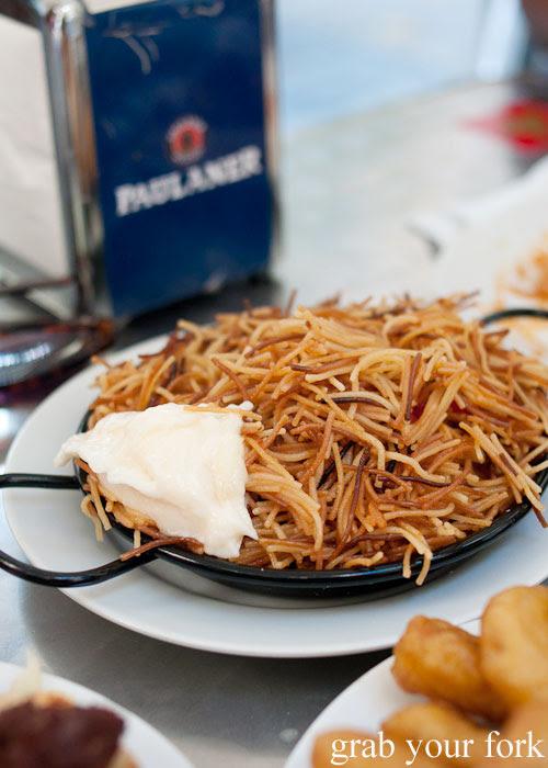 Fideua Valencian noodle paella at Can Eusebio, Barcelona