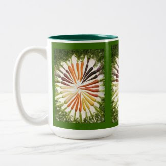 Multi-Colored Carrots Mug mug