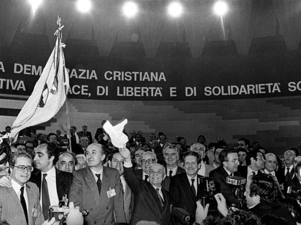 Il congresso dc del 1982 (Contrasto)