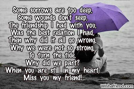Broken Friendship Poems