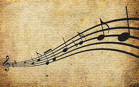 Vintage Music Note Image » Harmony Wallpaper 1080p