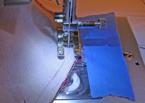 red denim jacket sewing