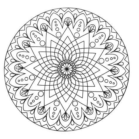mandala abstrait simple mandalas coloriages difficiles