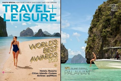 Philippines Pride : El Nido Palawan cover photo of Travel and Leisure Magazine
