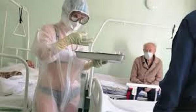 बिना कपड़ों के कोरोना मरीजों का इलाज करने वाली नर्स बनी एंकर..