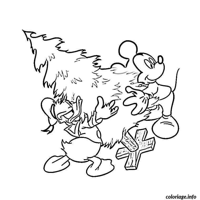 Coloriage Noel Walt Disney Jecoloriecom