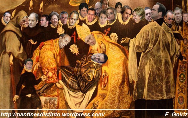 El entierro político de Mariano Rajoy - fotomontaje - F. Goiriz