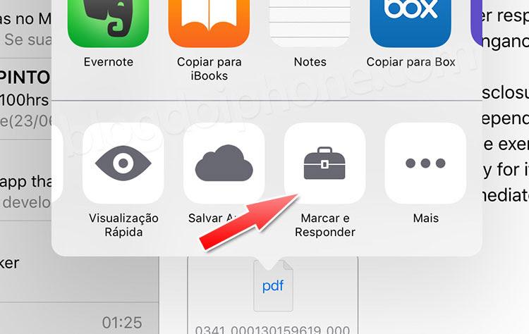 iOS 9 Marcação
