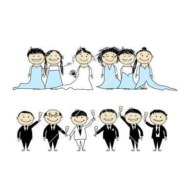 bridal party clipart clipart suggest