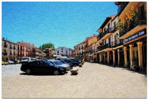 Plaza de Turégano. Segovia. Castilla