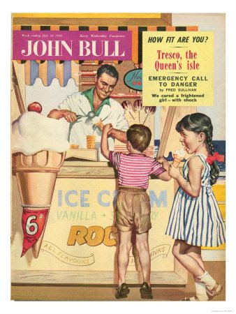 John Bull, Holiday Ice-Cream Magazine, UK, 1950