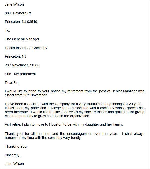 Notice Of Retirement Letter from lh6.googleusercontent.com