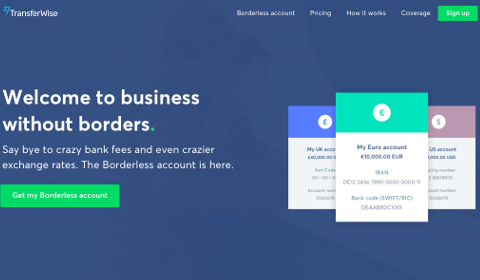 TransferWise Boundless Account