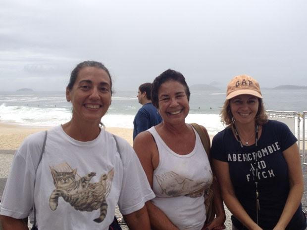 As amigas Vânia, Emília e Sirlene criticam a segurança na Zona Sul (Foto: Daniel Silveira/G1 Rio)