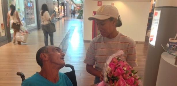 """Lawane Rodrigues e o cadeirante José Avelino encontraram-se na tarde de hoje: """"já somos amigos"""""""