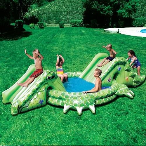 Plastic Kiddie Pool Banzai Slide N Splash Alligator Pool