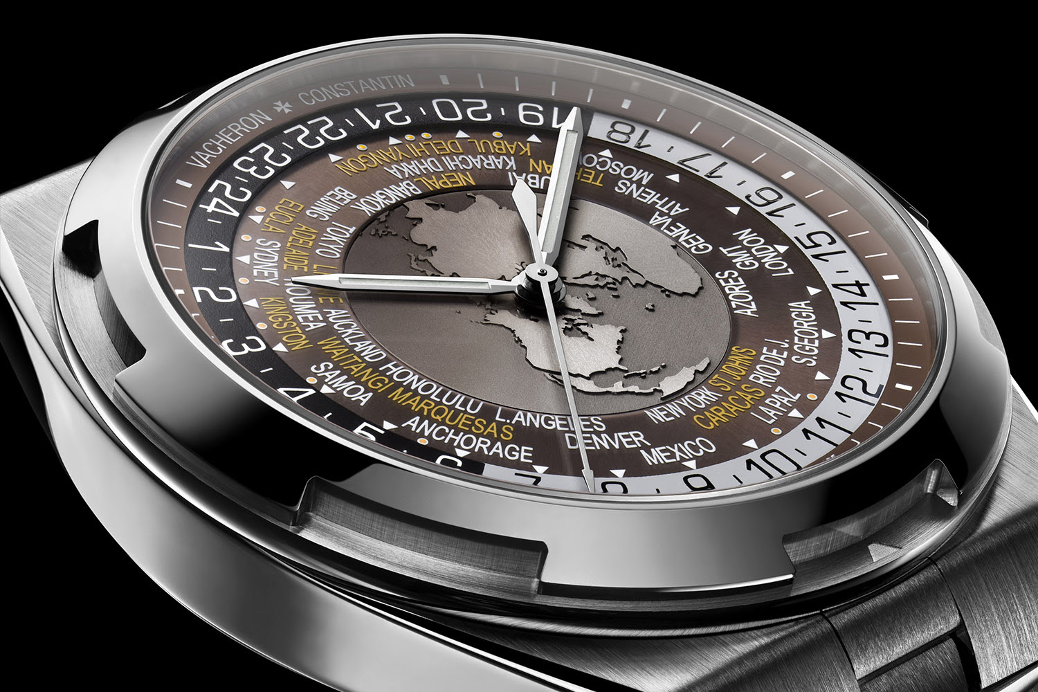 Côté Vacheron Constantin Overseas World Time