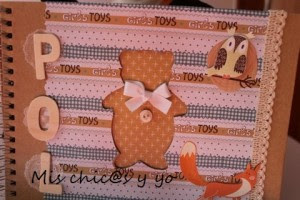Decorando libreta infantil scrap