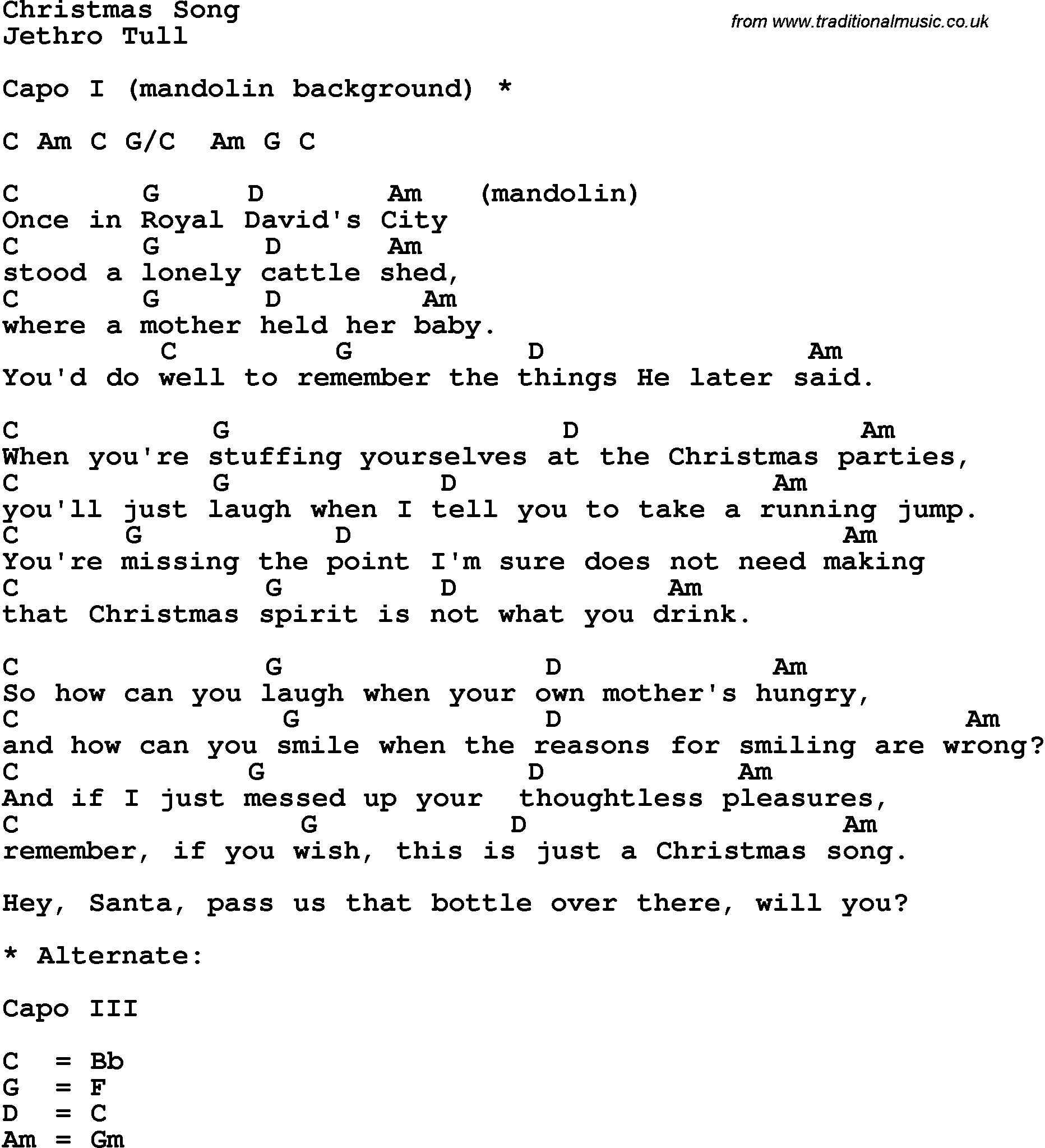 Christmas Song Chords 2015confession