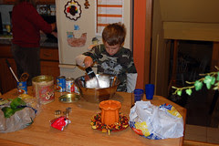 chris making pumpkin pie