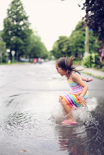 a splashing time!