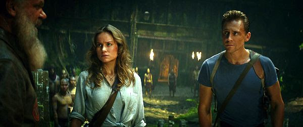 Brie Larson and Tom Hiddleston in 2017's KONG: SKULL ISLAND.