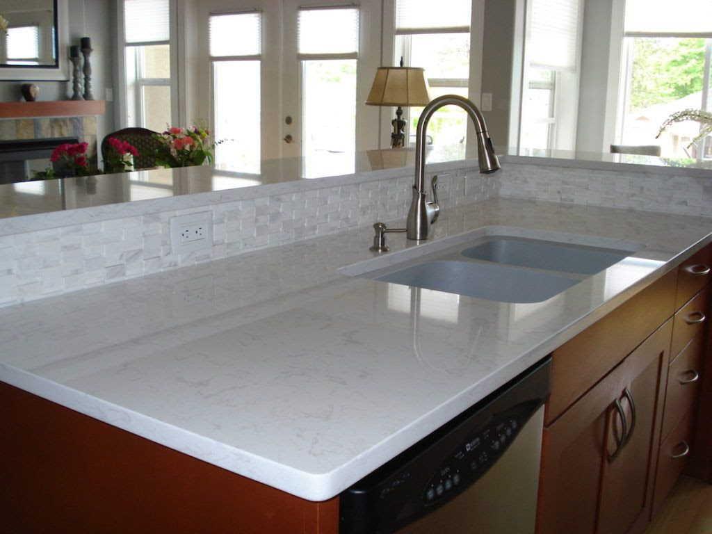White quartz countertop design