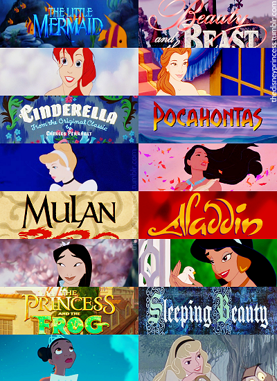 Disney Princesses Title Screens - Disney Princess Fan Art ...