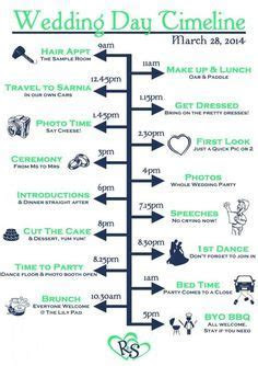Can use this to create your own timeline for the wedding