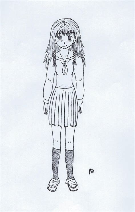 manga girl full body  skidude  deviantart
