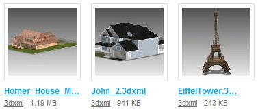 sample 3D models