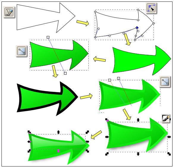 inkscape arrow