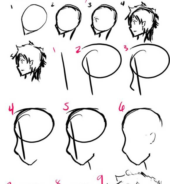 Orasnap Anime Male Hair Side View Cara de perfil drawing pencil portrait drawing drawings pencil. orasnap anime male hair side view