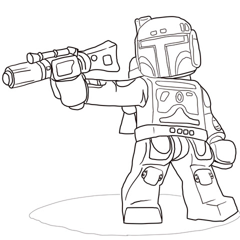 Dibujo De Boba Fett De Star Wars Lego Para Colorear Dibujos Para