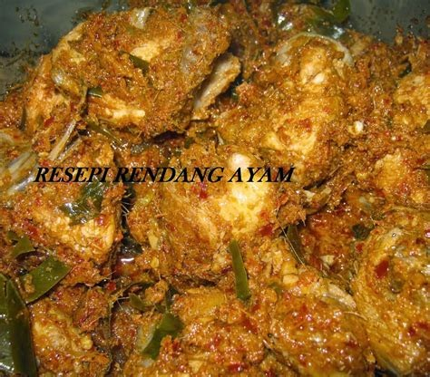 Resepi Ayam Rendang Sedap