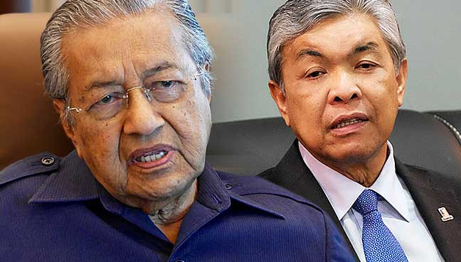 Image result for Mahathir-Zahid