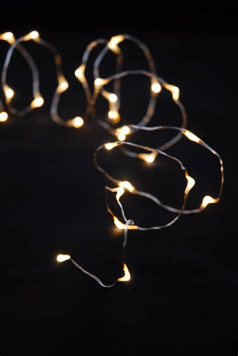 LED Warm White Firefly Lights Battery Op. 6.5ft   30ct