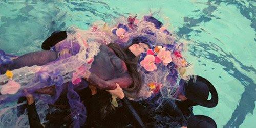 En Gaga se coloca un arreglo de flores y ... las mariposas monarca.  ¿Es esta una forma de decir que la muerte y el renacimiento de Gaga se hace a través de programación Monarca?