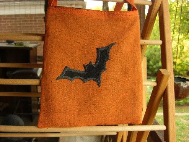 Bat bag hand embroidered