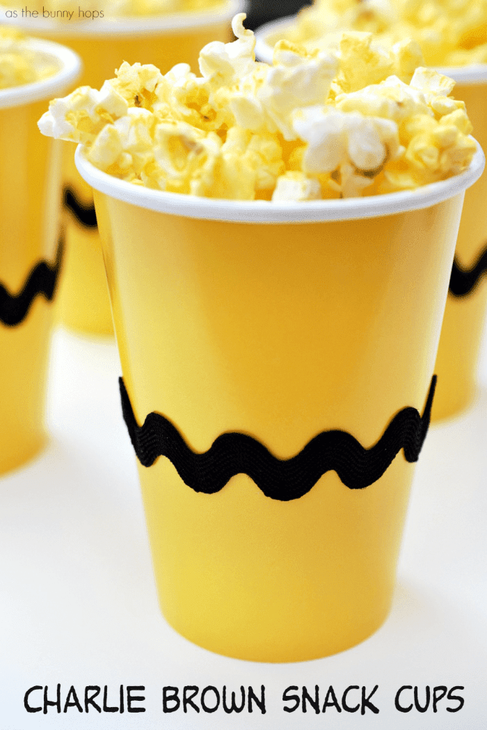 Charlie Brown Snack Cups