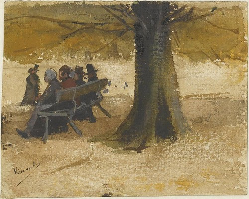 Four people on a bench - September 1882 (262)