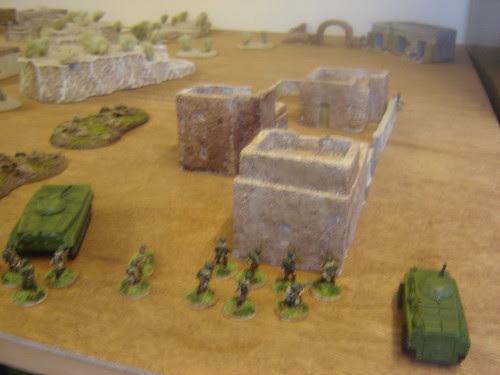 Soviets enter the first village