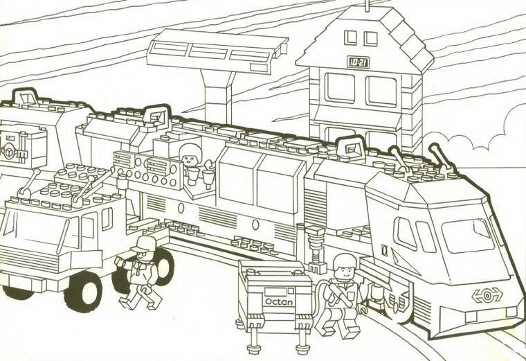 Coloriage A Imprimer Gare De Train Lego Gratuit Et Colorier