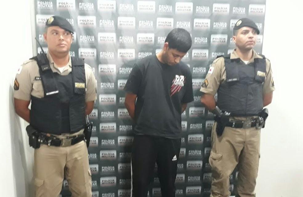 Preso disse que iria para a Bahia (Foto: Geraldo Humberto/Inter TV)