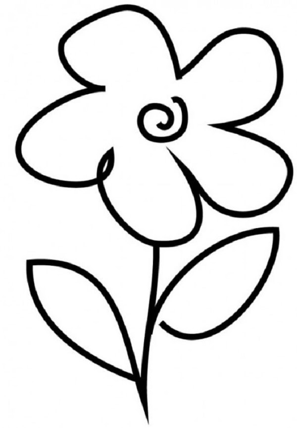 Download And Print Simple Flower Coloring Pages Kids Mewarnai