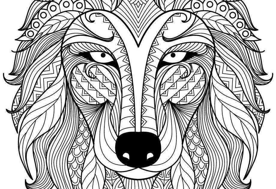 ausmalbild wolf